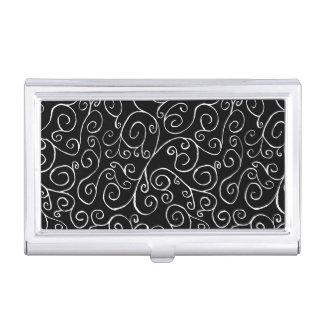 Curvas blancas del movimiento en sentido vertical caja de tarjetas de visita
