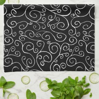 Curvas blancas del movimiento en sentido vertical toallas