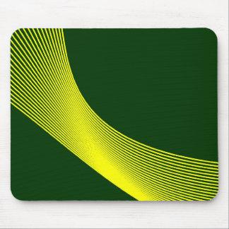 Curvas de Bézier - amarillo en 003300 verde oscuro Alfombrilla De Raton