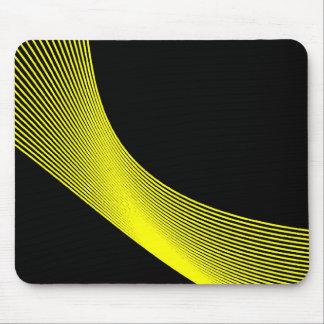 Curvas de Bézier - amarillo en negro Tapete De Ratón
