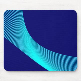 Curvas de Bézier - ciánicas en 000066 azul marino Tapete De Ratones