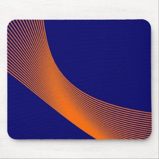 Curvas de Bézier - naranja en 000066 azul marino Alfombrilla De Ratón