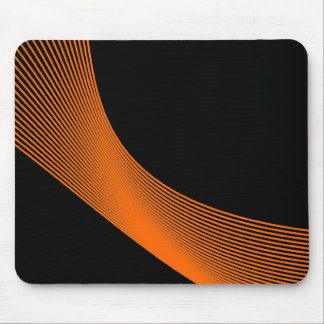 Curvas de Bézier - naranja en negro Tapetes De Raton