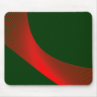 Curvas de Bézier - rojo en 003300 verde oscuro Tapete De Ratones