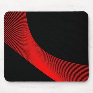 Curvas de Bézier - rojo en negro Alfombrillas De Ratón
