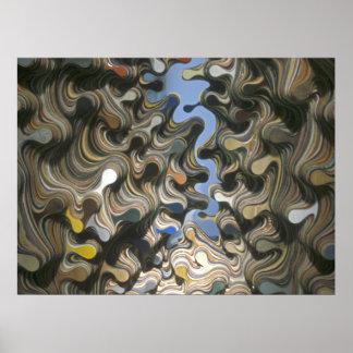 Curvas del arte de Digitaces Impresiones