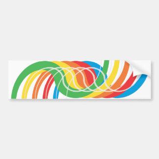 Curvas del color: Ejemplo del vector: Pegatina Para Auto