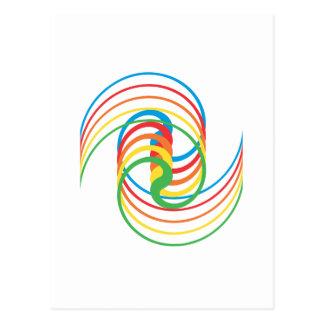 Curvas del color: Ejemplo del vector: Postales