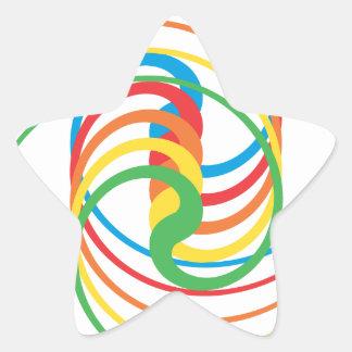 Curvas del color: Pegatina de la estrella