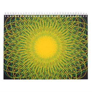 Curvas enérgicas Blck Calendarios De Pared