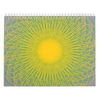 Curvas enérgicas grises calendarios