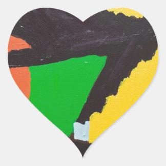 Curvas negras erosivas del rompecabezas pegatina en forma de corazón