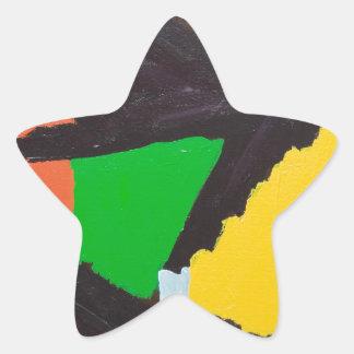 Curvas negras erosivas del rompecabezas pegatina en forma de estrella