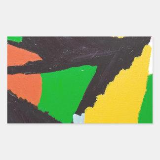 Curvas negras erosivas del rompecabezas pegatina rectangular