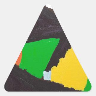 Curvas negras erosivas del rompecabezas pegatina triangular