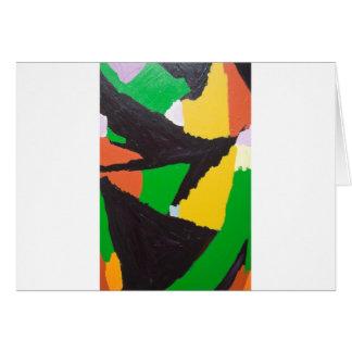 Curvas negras erosivas del rompecabezas tarjeta de felicitación