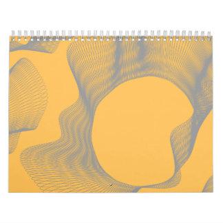 Curvas onduladas impares anaranjadas calendario