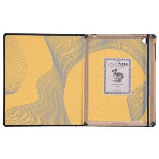 Curvas onduladas impares anaranjadas iPad protector
