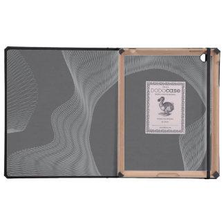 Curvas onduladas impares gris oscuro iPad funda