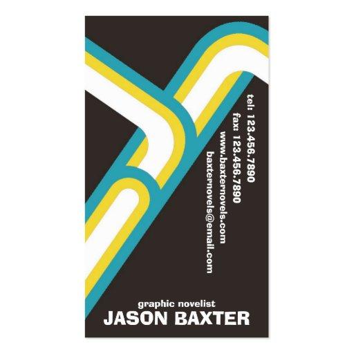 Curvas retras - estilo 5 tarjetas de visita