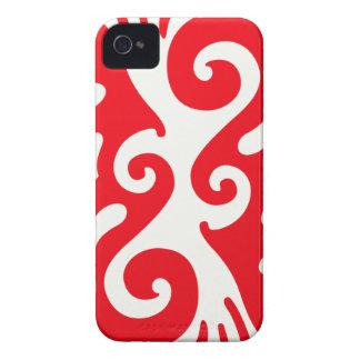 Curvas rojas Case-Mate iPhone 4 cárcasas