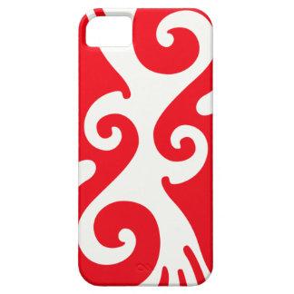 Curvas rojas funda para iPhone 5 barely there