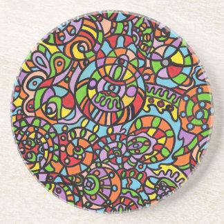 Curvas y esferas posavaso para bebida