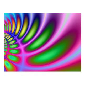 Curvatura de colores tarjeta postal