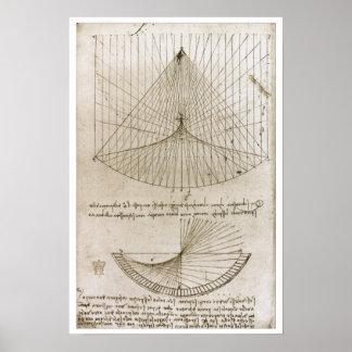 Curvaturas constantes y parabólicas, Leonardo da V Póster