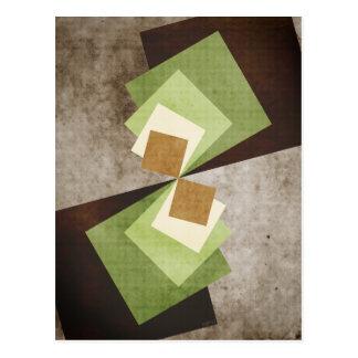 Curvature of A Square Postcard