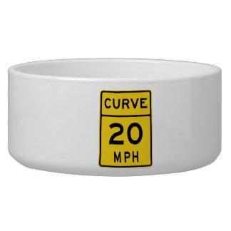 Curve 20 MPH Sign Bowl