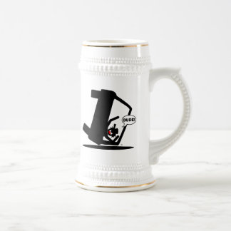 CURVE AHEAD DUDE! BEER STEIN