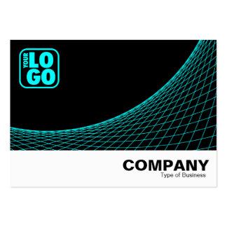 Curve Footed - Cyan Large Business Cards (Pack Of 100)