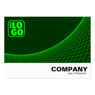 Curve Footed - Green With Dk Green Large Business Cards (Pack Of 100)