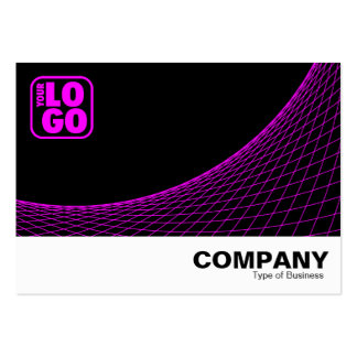 Curve Footed - Magenta Large Business Cards (Pack Of 100)