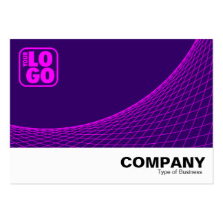 Curve Footed - Magenta With Deep Purple Large Business Cards (Pack Of 100)