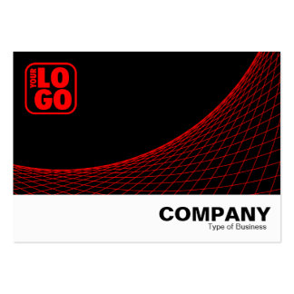 Curve Footed - Red Large Business Cards (Pack Of 100)