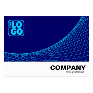 Curve Footed - Sky Blue on Deep Navy Blue Large Business Cards (Pack Of 100)