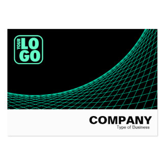 Curve Footed - Turquoise Large Business Cards (Pack Of 100)