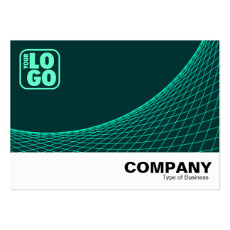 Curve Footed - Turquoise On Dk Green Large Business Cards (Pack Of 100)