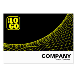 Curve Footed - Yellow Large Business Cards (Pack Of 100)