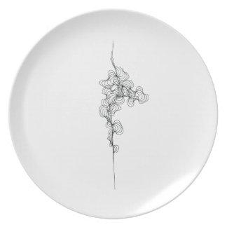 Curve No. 3 on a Melamine Plate