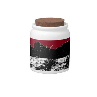 Curve of Earth Dark Red Sky Over Desert Candy Dishes
