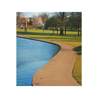 Curve Rowntree Park Gallery Wrapped Canvas
