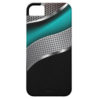 Curve Tech Mesh Chrome Teal iPhone SE/5/5s Case