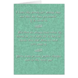 Curveball (a partir del uno) tarjeta de felicitación