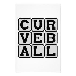 Curveball, Baseball Pitch Personalized Stationery