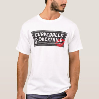 Curveballs and Cocktails Logo Men's T-shirt