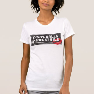 Curveballs and Cocktails Logo Women's Crew T-Shirt