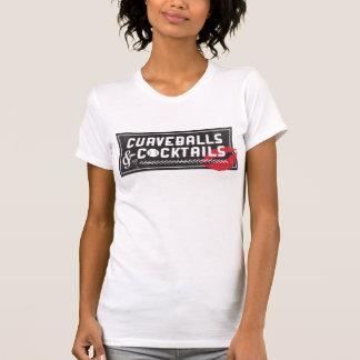 Curveballs and Cocktails Logo Women's Crew Shirts